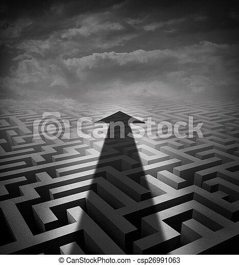 labyrinthe, flèche - csp26991063