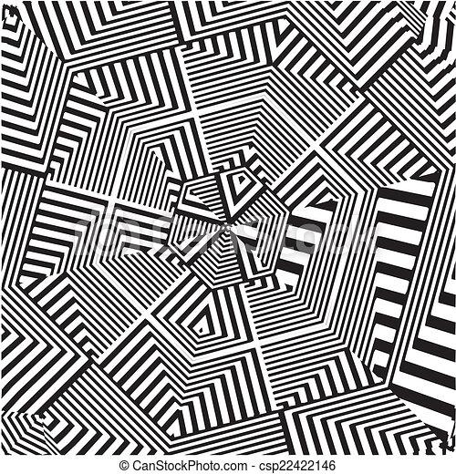 Labyrinthe labyrinthe hexagone vecteur - Dessin labyrinthe ...