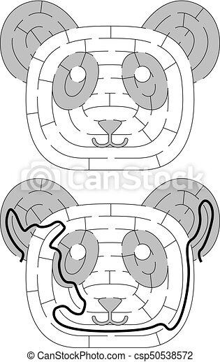 Labyrinthe Panda Facile