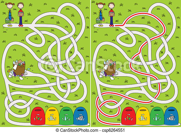 labyrinthe, recyclage - csp6264551