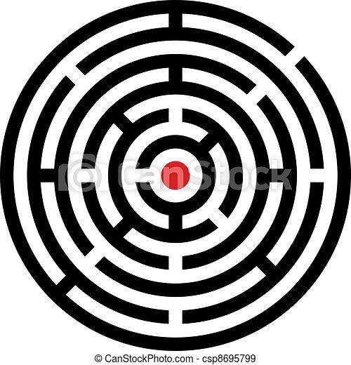 labyrinthe, vecteur, arrondi - csp8695799