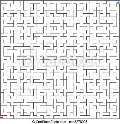 labyrinthe, vecteur, illustration - csp8278998
