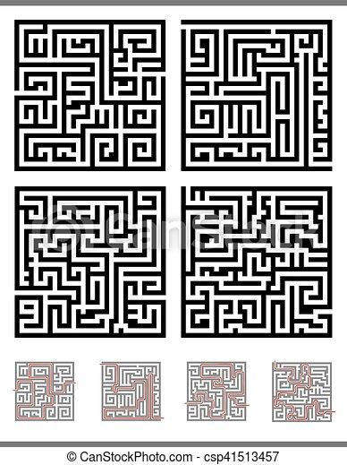 labyrinths 14 - csp41513457