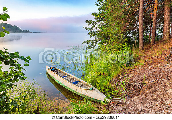 lac, canoë - csp29336011