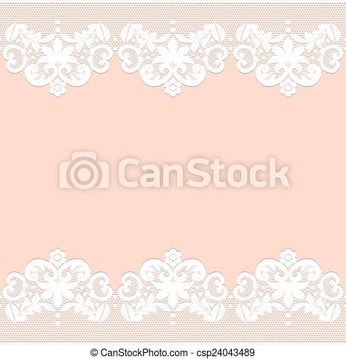 lace border - csp24043489