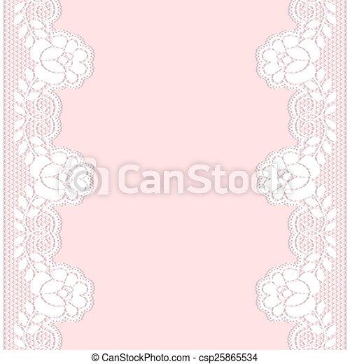 Lace border - csp25865534