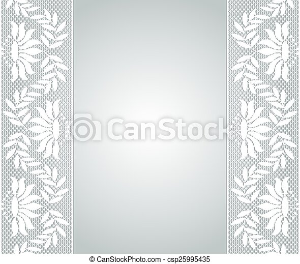 lace borders template for wedding invitation or greeting card with