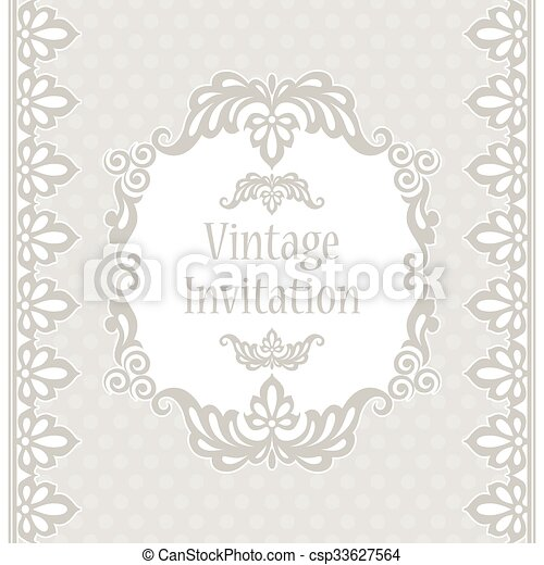 Lace design template. Invitation template in vintage style. stylized ...