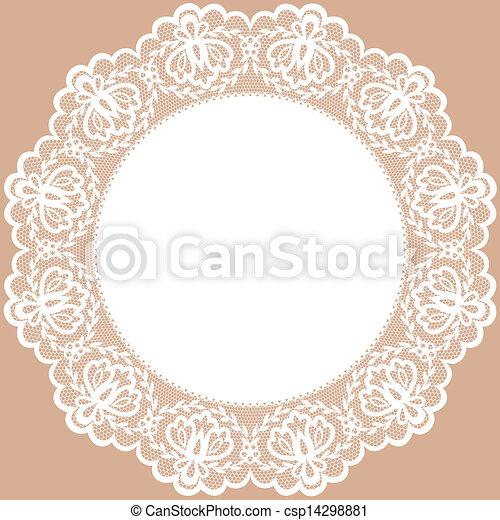 lace doily - csp14298881