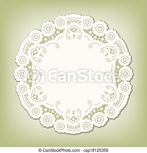 Lace Doily Place Mat, Vintage Style - csp18125359