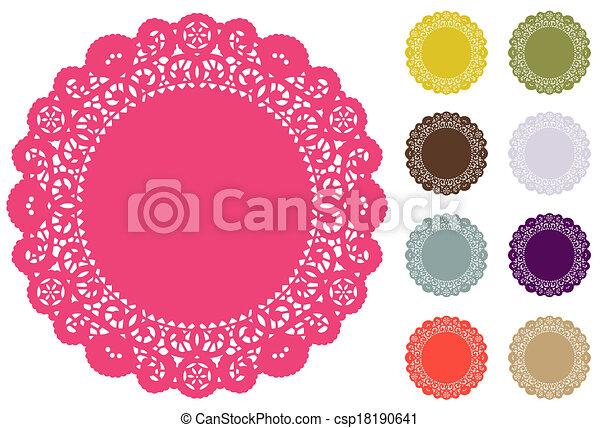 Lace Doily Place Mats Pantone Color - csp18190641
