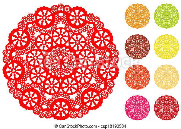 Lace Doily Place Mats, Snowflake - csp18190584