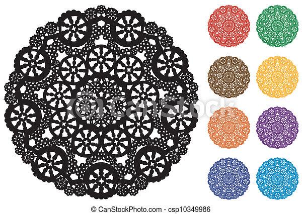 Lace Doily Place Mats, Snowflakes - csp10349986
