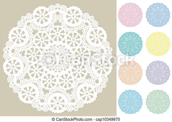 Lace Doily Place Mats, Snowflakes - csp10349970