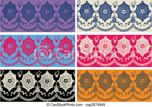 lace embroidery design - csp2874949