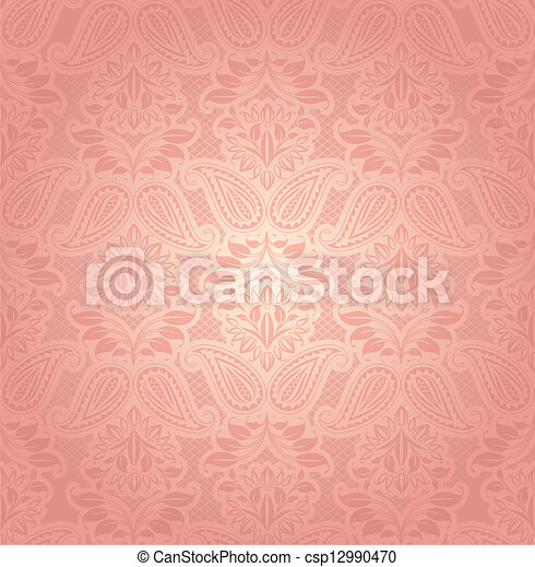 Lace pink, floral background - csp12990470