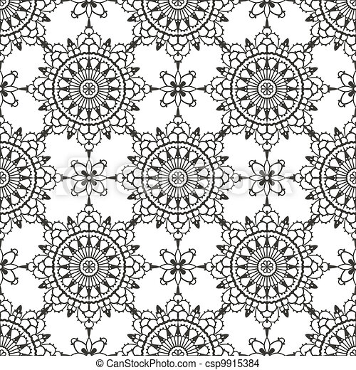 Lace seamless pattern - csp9915384