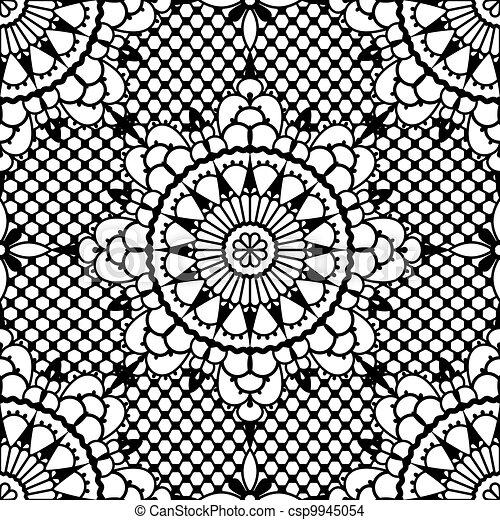 Lace seamless pattern - csp9945054