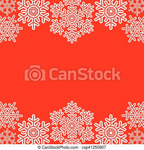 lace snowflakes borders csp41255907