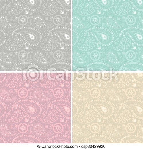 Lace white seamless pattern. Vector illustration. - csp30429920