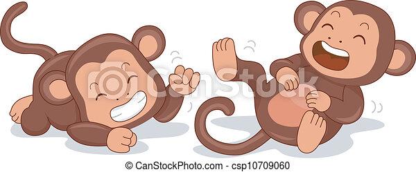 Lachende Affen - csp10709060