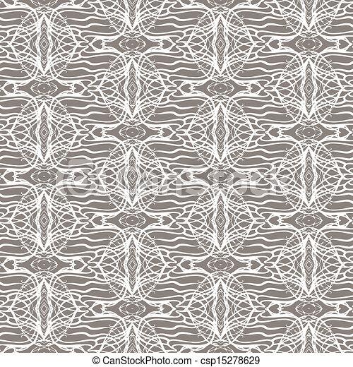 Lacing geometric ornament in art deco style - csp15278629