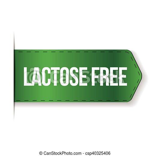 Lactose Free sign ribbon - csp40325406