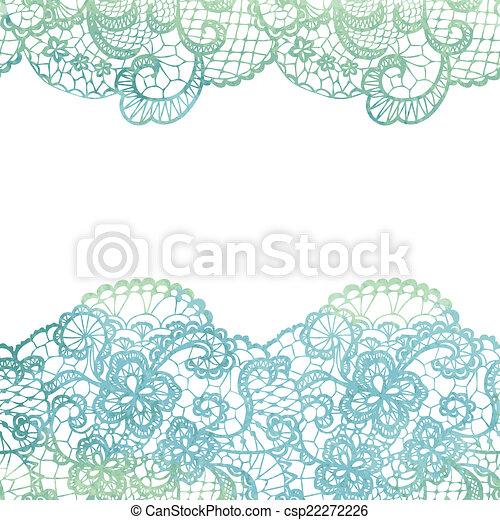 Lacy Elegant Border Invitation Card