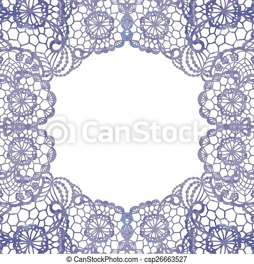 Lacy elegant frame. - csp26663527