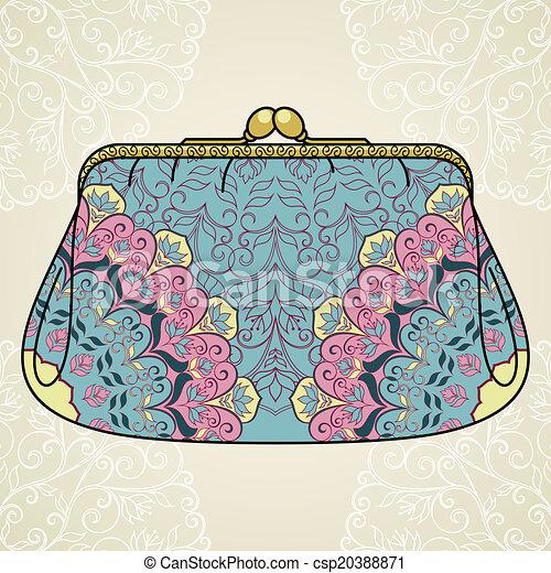 Lacy elegant purse. - csp20388871