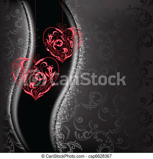 lacy hearts - csp6628367