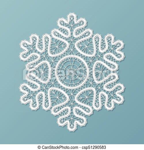 Lacy snowflake ornament - csp51290583