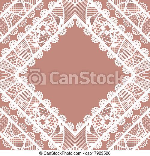 Lacy vintage background. - csp17923526