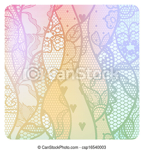 Lacy vintage background in soft colors. - csp16540003