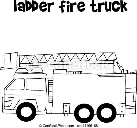 ladder fire truck vector illustration