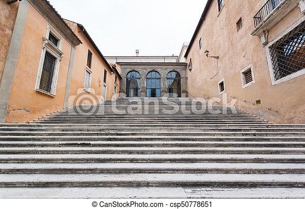 ladder in Monument of Vittorio Emanuele II - csp50778651