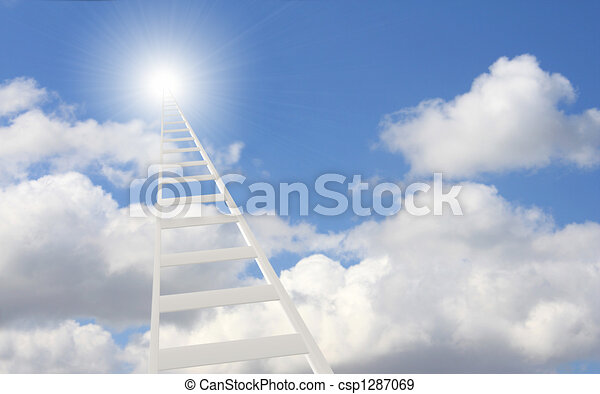 Ladder in the sky - csp1287069