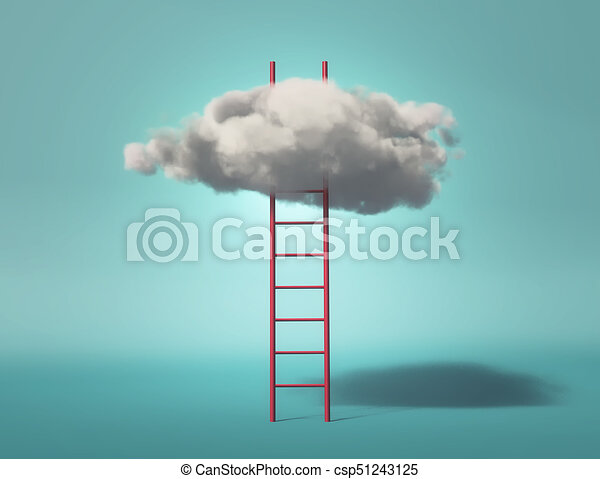 Ladder leading to a clouds - csp51243125