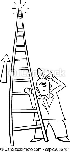ladder of success cartoon black and white cartoon humor concept illustration of ladder of success saying or proverb https www canstockphoto com ladder of success cartoon 25686781 html