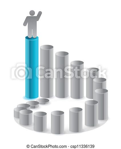 ladder of success illustration - csp11336139