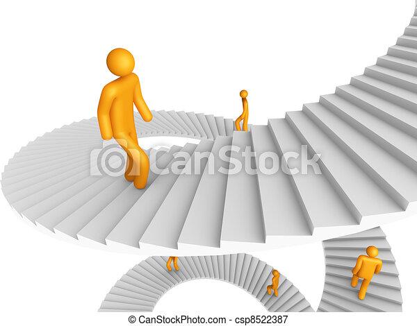 Ladder of Success - csp8522387