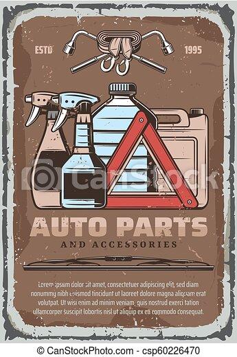 Laden Auto Auto Flüssigkeiten Accessoirs Teil Plakat Reiniger