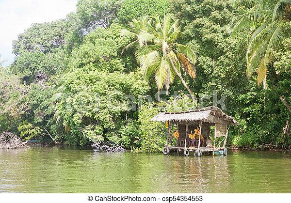 laden, lanka, maduganga, sri, -, see, traditionelle , madu, fluß, ganga, balapitiya - csp54354553