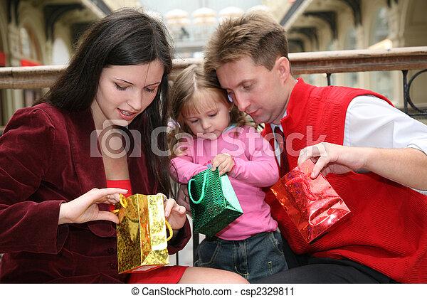 laden, säcke, familie - csp2329811