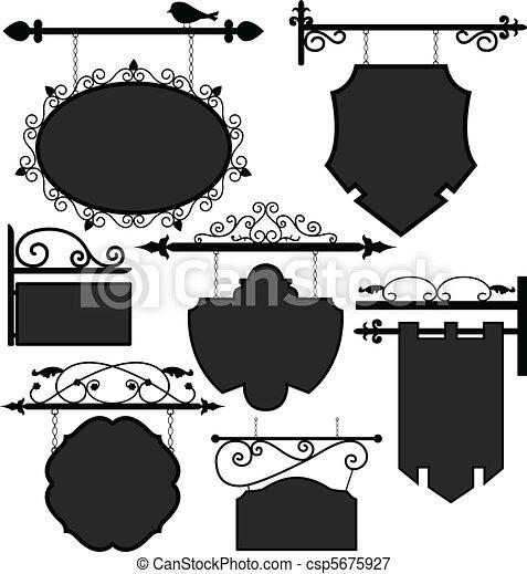 laden, strecke, signage, zeichen - csp5675927