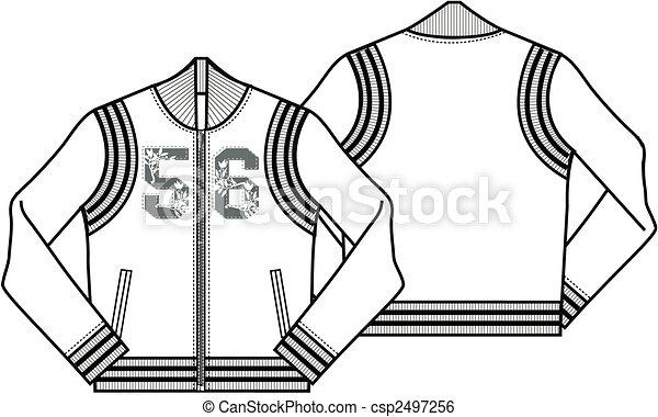 Ladies Baseball Style Jacket - csp2497256