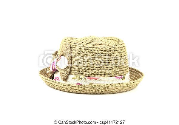 Ladies fashion hats on white background. fcb1c30fb56d