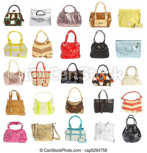 Ladies' handbag on a white background - csp5264758
