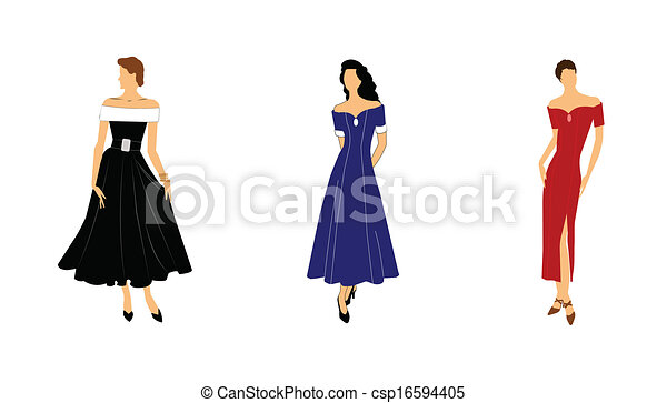 ladies in gowns  - csp16594405