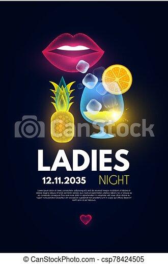 Night poster ladies Free Ladies
